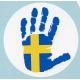 Decal - Sweden Hand