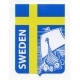 Decal -  Sweden Flag with Viking Ship