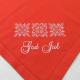 Large Square Napkin - Snowflakes - Red