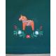 Runner - Dala horse & Flowers - Green