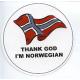 Pin - Thank God I'm Norwegian