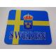 Mouse Pad - Sweden Flag & Crest