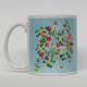 Coffee Mug - Swedish Flags and Flowers
