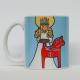 Coffee Mug -  Lucia & Dala Horse