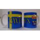 Coffee Mug -  Sweden Flag & Crest
