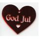 Laser Cut Ornament - God Jul Heart