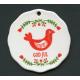 Ceramic Ornament  - God Jul Bird