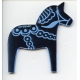 Laser Cut Ornament - Blue Dala Horse
