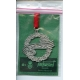 Pewter Ornament -  God Jul Wreath