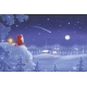 Poster - Tomte Watching Shooting Star