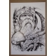 Poster - Viking with Hammer & Dragon