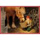 Poster - Tomte Feeding Horse
